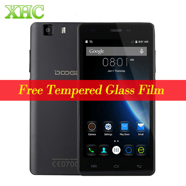 Оригинальный 3 г Doogee X5 5.0 дюймов Android-смартфон MT6580 Quad Core 1 ГБ + 8 ГБ 1280x720 2400 мАч батареи Dual SIM мобильный телефон