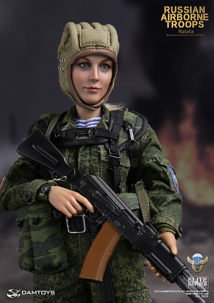 DAM TOYS 78035 VDV elite series of Russian paratroopers spot Natalia.