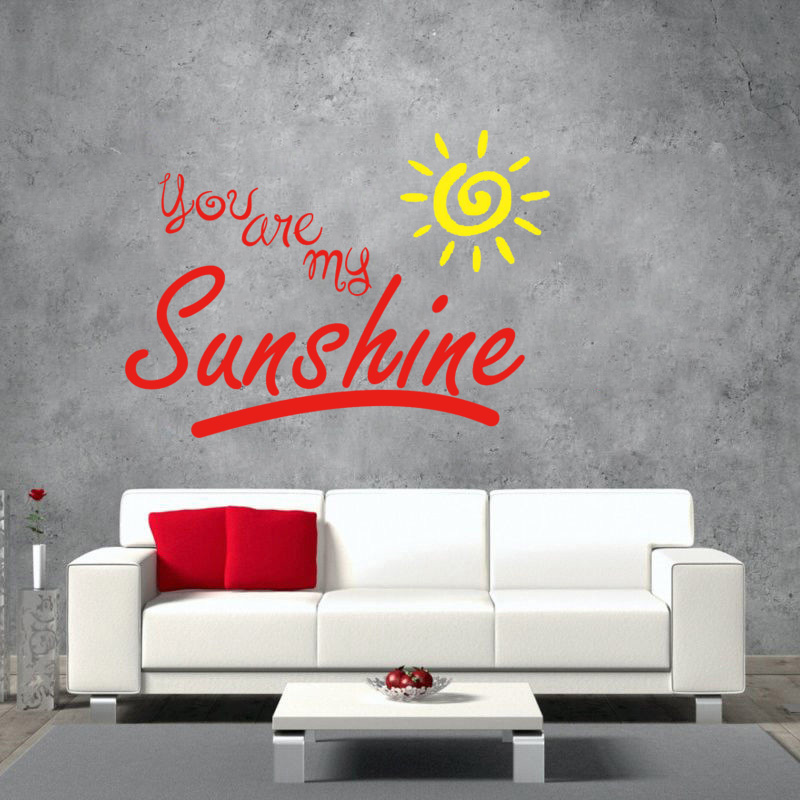 You Are My Sunshine Wall Decal Kids Sticker Nursery Childrens Room Yellow  Sun In Wall Stickers From Home U0026 Garden On Aliexpress.com | Alibaba Group