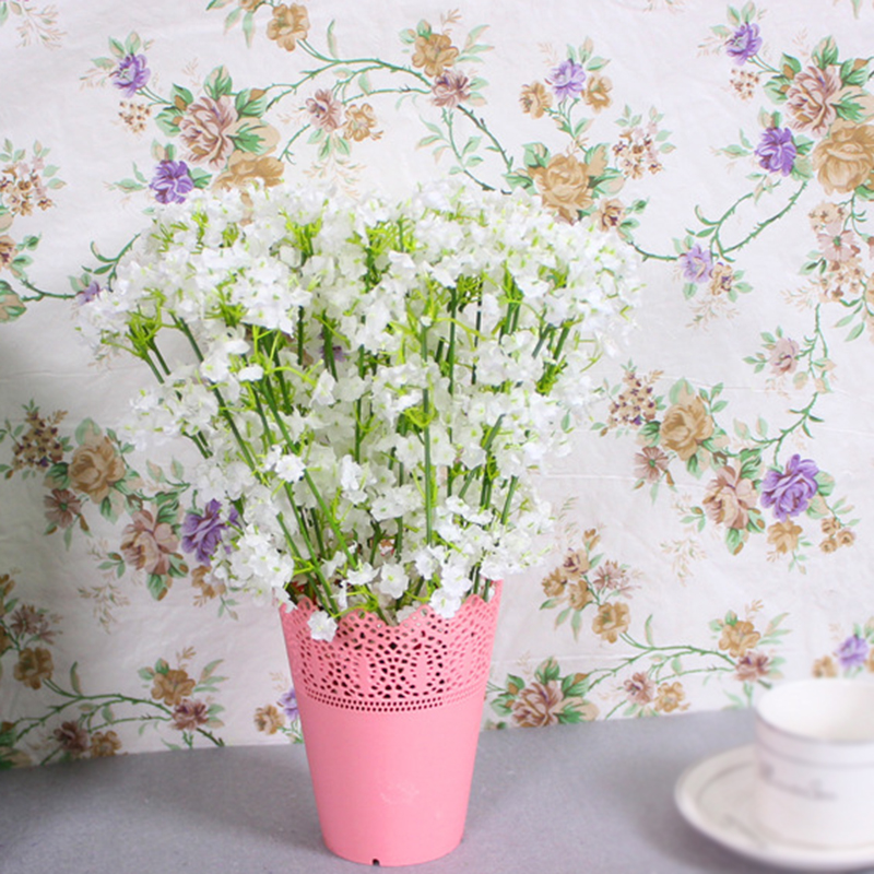 Rustic Artificial Flowers White Gypsophila 14