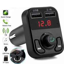 B3 Sem Fio Universal Transmissor FM Apoio TF Cartão Mãos-livres Bluetooth Chamada MP3 Player Do Carro Dual USB Carregador de Telefone Celular Auto