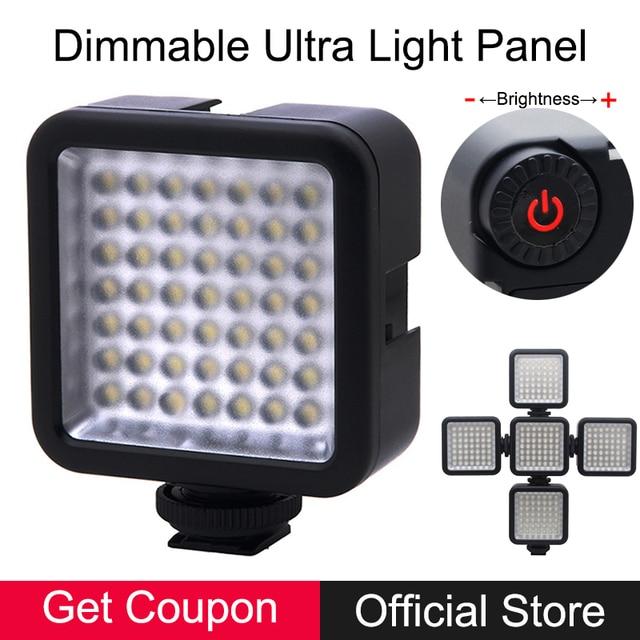 49 Regulável Ultra Brilhante LED Luz de Vídeo de Preenchimento para Canon Nikon DSLR Camera DV Camcorder Panasonic Smartphones Iluminação Fotografia