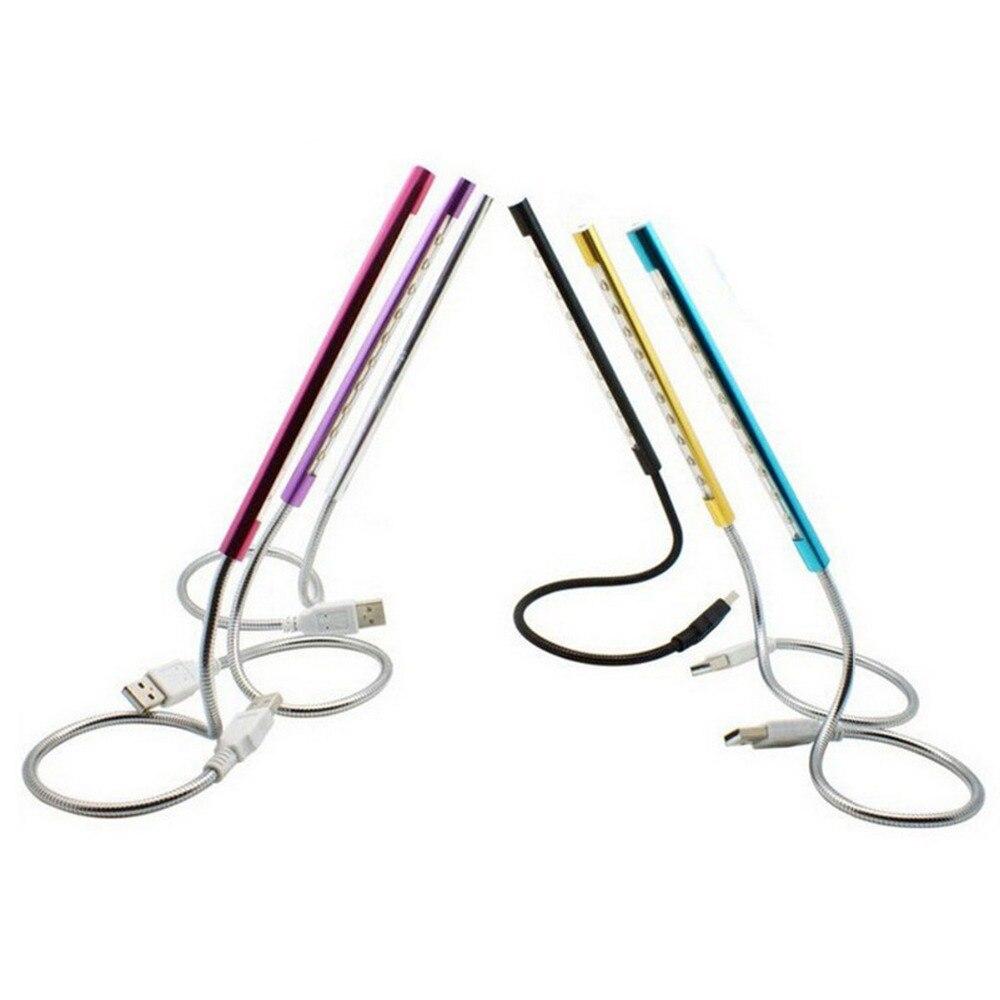 USB клавиатура свет гибкая и регулируемая настольная лампа ультра-яркий 10 светодиодный S Портативный Mini-USB светодиодный лампы для ПК ноутбук