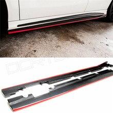 Para Mercedes-benz R Estilo CLA CLASE W117 CLA180 C117 CLA260 CLA200 CLA250 CLA45 AMG Carbon Fiber Taloneras Con Rojo línea