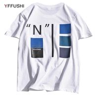 YFFUSHI 2018 Brand Man T Shirt Streetwear Casual Letter Printing Tees Short Sleeve O Neck T