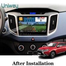 Uniway 2G + 16G android 6.0 dvd del coche para Hyundai ix25 creta 2014 2015 2016 2 din 10 pulgadas de coches reproductor de radio navegación gps