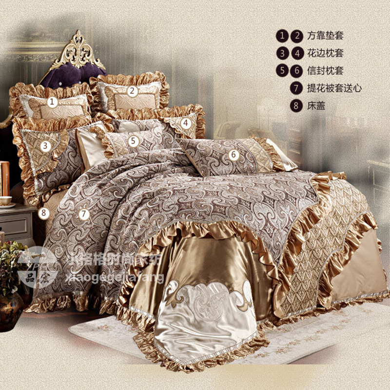 Bon Luxury Bedding Set Wedding Duvet Cover Thicker Bed Sheet Pillowcases  Fashion French Quality Wedding Bedding 8 Piece Bedding Set In Bedding Sets  From Home ...
