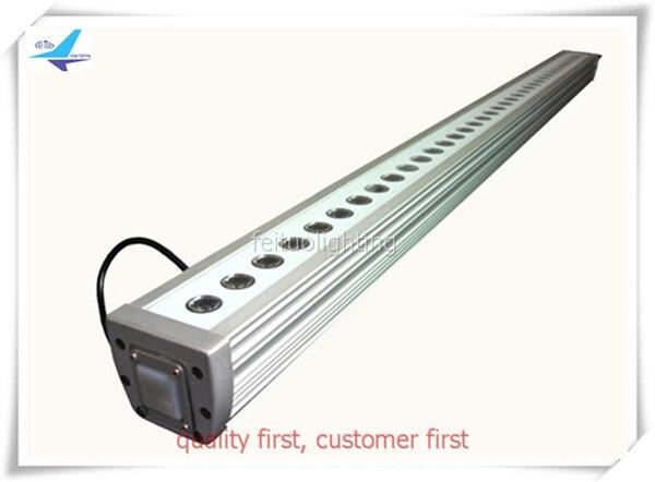 free shipping 10pcs/lot LED Floorlight Waterproof IP65 36x3w RGB Wall Washer Lamp Linear Bar Light DMX Strip Lighting for Disco