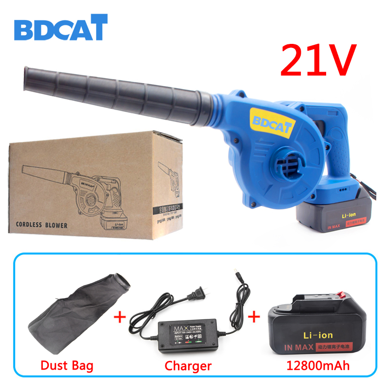 21V Lithium Battery Cordless Blower Electric Air Blower Industrial Grade Electric Turbo Fan Computer Dust Cleaner Collector