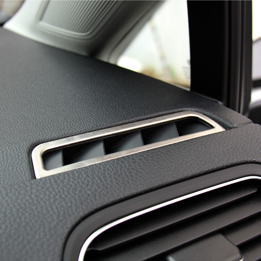 Car-Styling Stainless Steel Trim Outlet Air Conditioning Decoration AC Cover Auto Accessories For Volkswagen VW GOLF 7 MK7