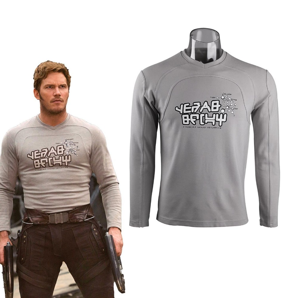 Guardians of the Galaxy 2 Starlord Shirt Peter Jason Quill Cosplay Costume