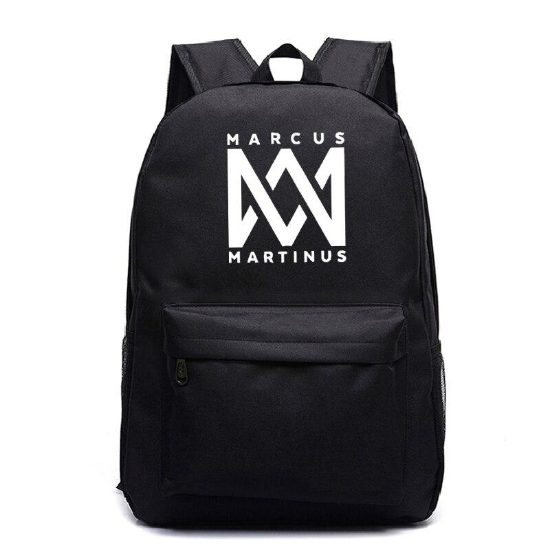 Quente da Moda Bolsas de Escola para Mulheres dos Homens Venda Estudantes Adolescentes Marcus Martinus Mochilas Menino Menina Bonito Portátil Mochila &