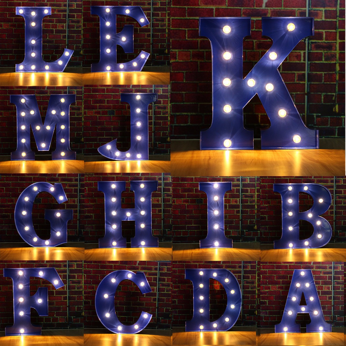 Wall Lamp LED Night Light Lamp Kids Marquee Letter Lights Vintage Alphabet Light Up Christmas Party Battery Operated ropio 3d night light box led table lamp marquee giraffe battery operated for children s room wedding party birthday decoration