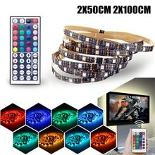 Mising Non Waterproof RGB LED Strip Light 5050 SMD USB Powered Colour Changing LED Strip TV Background Ambient Lighting 5V