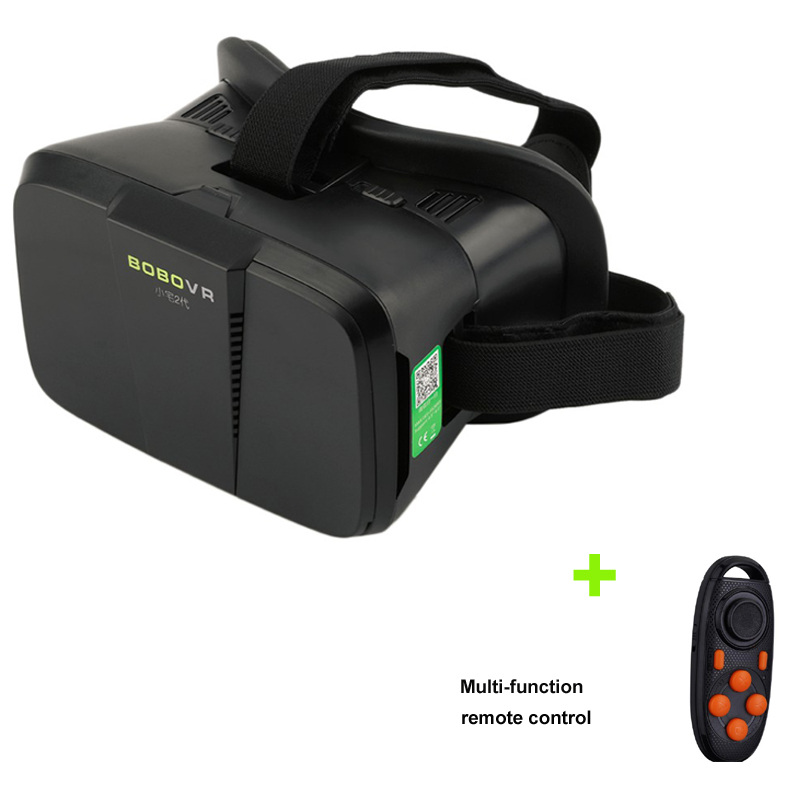 Virtual Reality 3D <font><b>VR</b></font> <font><b>Glasses</b></font> Google Cardboard <font><b>VR</b></font> <font><b>BOX</b></font> Helmet Headset for 4~6' Smartphone + Remote Controller <font><b>Xiaozhai</b></font> BOBOVR Z2