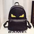 Unisex Demon Eyes Monster Backpack Fashion Nylon Schoolbag For Teenagers Institute Wind Backpack for Christmas Gift
