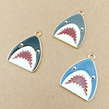 10pcs 21x28mm shark charms enamel charm for jewelry making and crafting charm fashion pendant