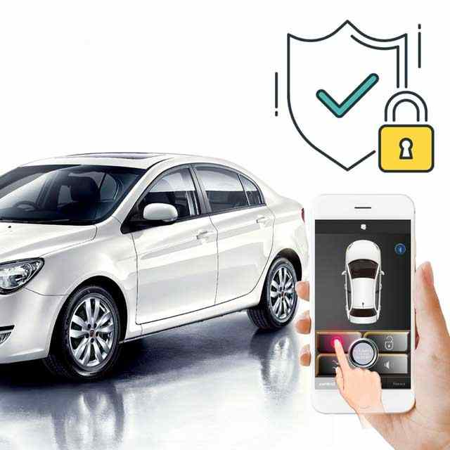 APP Auto Começo Remoto Por Bluetooth Sistema de Entrada sem chave Com Botão de Parada de Partida Do Motor Do Carro Remoto Push Fecho Central