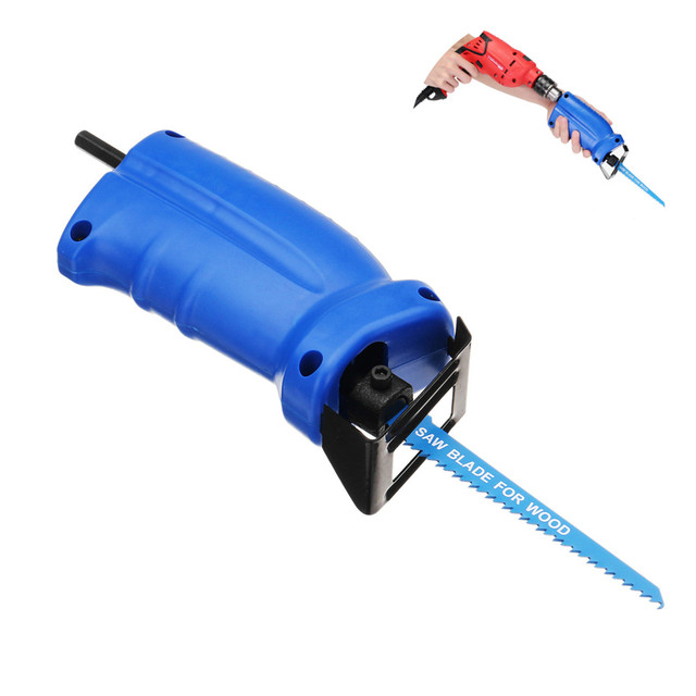 ALLSOME Portable Reciprocating Saw Adapter Set Changed Electric Drill Into Reciprocating Saw HT1569 1
