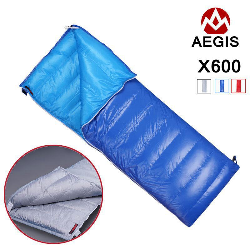 AEGISMAX Envelope Sleeping Bag X600 White Goose Down Sleeping Bag Camping Hiking Tourist Spring and Autumn 600g