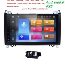 Hizpo 9 «Авторадио 2 din Android 8,0 Автомобильный мультимедийный для Mercedes Benz sprinter Vito W639 Viano W169 W245 W209 w906Head блок аудио