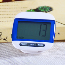 1 pcs Blue Mini LCD Pedometer Calorie Walking Distance Calculation Digital Counter Sports Accessories 2016 Hot Sale
