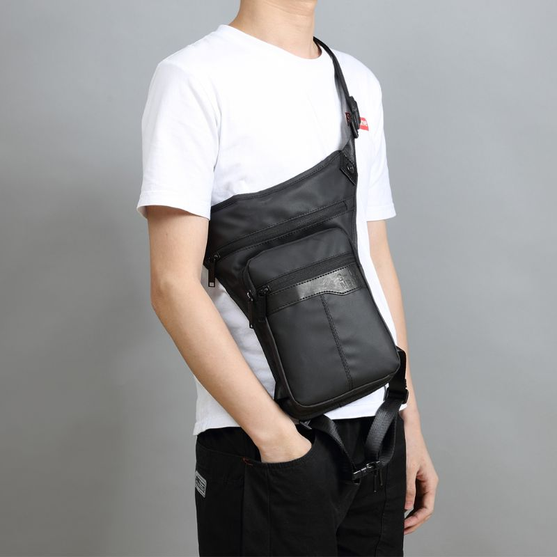 Fashion Men Waterproof Oxford Waist Leg Bag Drop Travel Riding Motorcycle Tactical Bags Fanny Pack Male Casual Waist Belt Bag