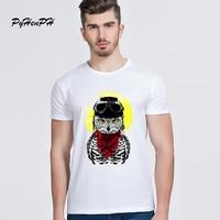 PyHenPH New 2017 Men Tshirt Fashion Adventure Owl Design T-shirts Men Summer Style Casual Short Sleeve Man T Shirt