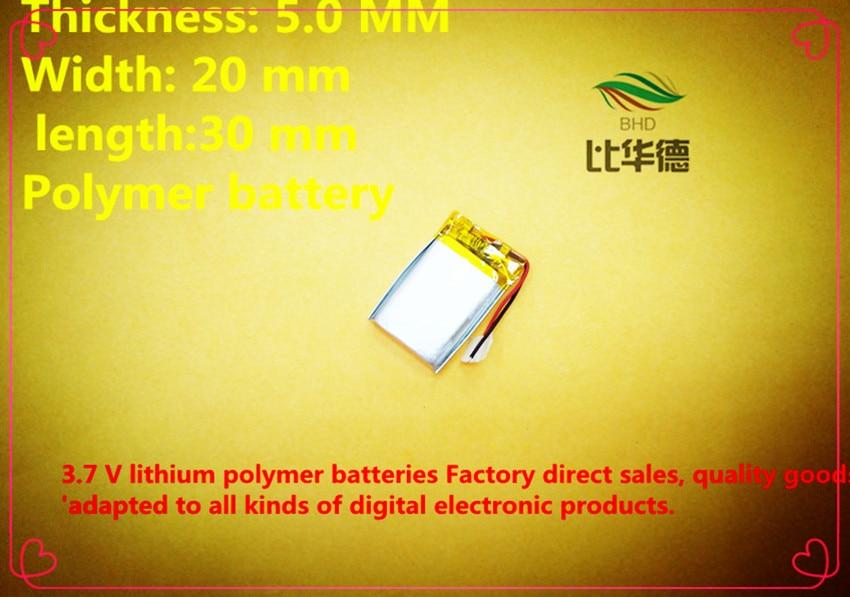 (freies Verschiffen) 10 Pcs 3,7 V 052030502030 250 Mah Lithium-ionen Polymer Batterie Qualität Waren Qualität Kann Wiederholt Umgeformt Werden.