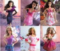 Free Shipping,18 Pcs / lot Doll Clothes+Shoes+Bags New Fashion Wear Set Outfits for  Barbie Doll