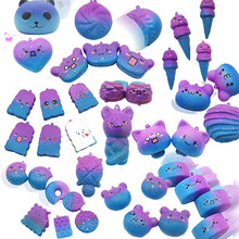 New Kawaii Starry Sky Squishy Speelgoeds Slow Rising Jumbo Cute Scented Bread Ice Cream Cake Kids Fun Toy Squishy Phone Straps(China)