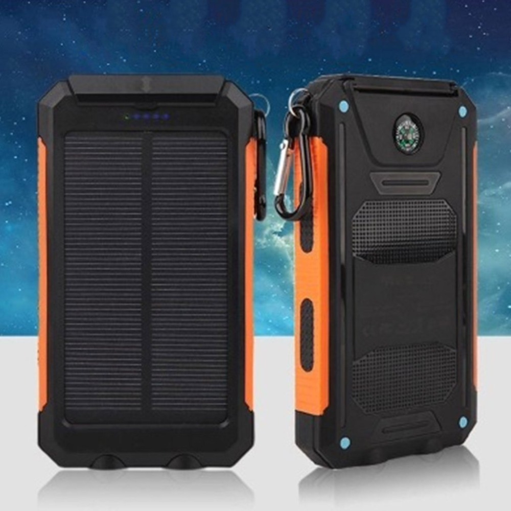 10000mAh Battery Charger External Power Bank Dustproof Shockproof Power Supply Powerbank for Smartphone With Dual LED Light