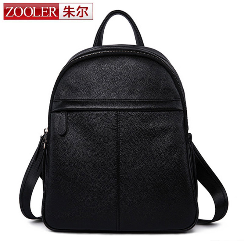 ZOOLER New Fashion Brand Women Backpack Genuine Leather Small Backpacks For Girls Real Cowhide Leather Backpack Mochila Feminina zooler genuine leather backpacks 2016 new real leather backpack for men famous brand china hot large capacity hot 65055