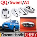 For Chery QQ A1 Chrome Door Handle Covers Trim Set of 8Pcs QQ3 QQ6 Sweet IQ MVM110 Kimo Accessories Stickers Car-Styling