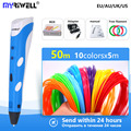 myriwell 3d pen 3d handle 3 d pen with 1.75mm abs filament ,Inspire creativity Painting tools birthday gift Christmas presents