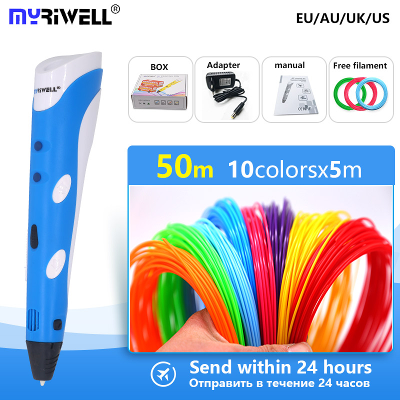 myriwell 3d pen 3d handle 3 d pen with 1.75mm abs filament ,Inspire creativity Painting tools birthd