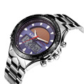 Marca Hombres Llenos de Acero Reloj Deportivo 30 M Impermeable Reloj de Cuarzo Digital LED Relojes Militares Relógio Solar Powered