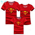 Superman Family T shirts Quality Cotton Summer Style Matching Mother and Daughter Father and Son Clothes Mommy and Me Clothes