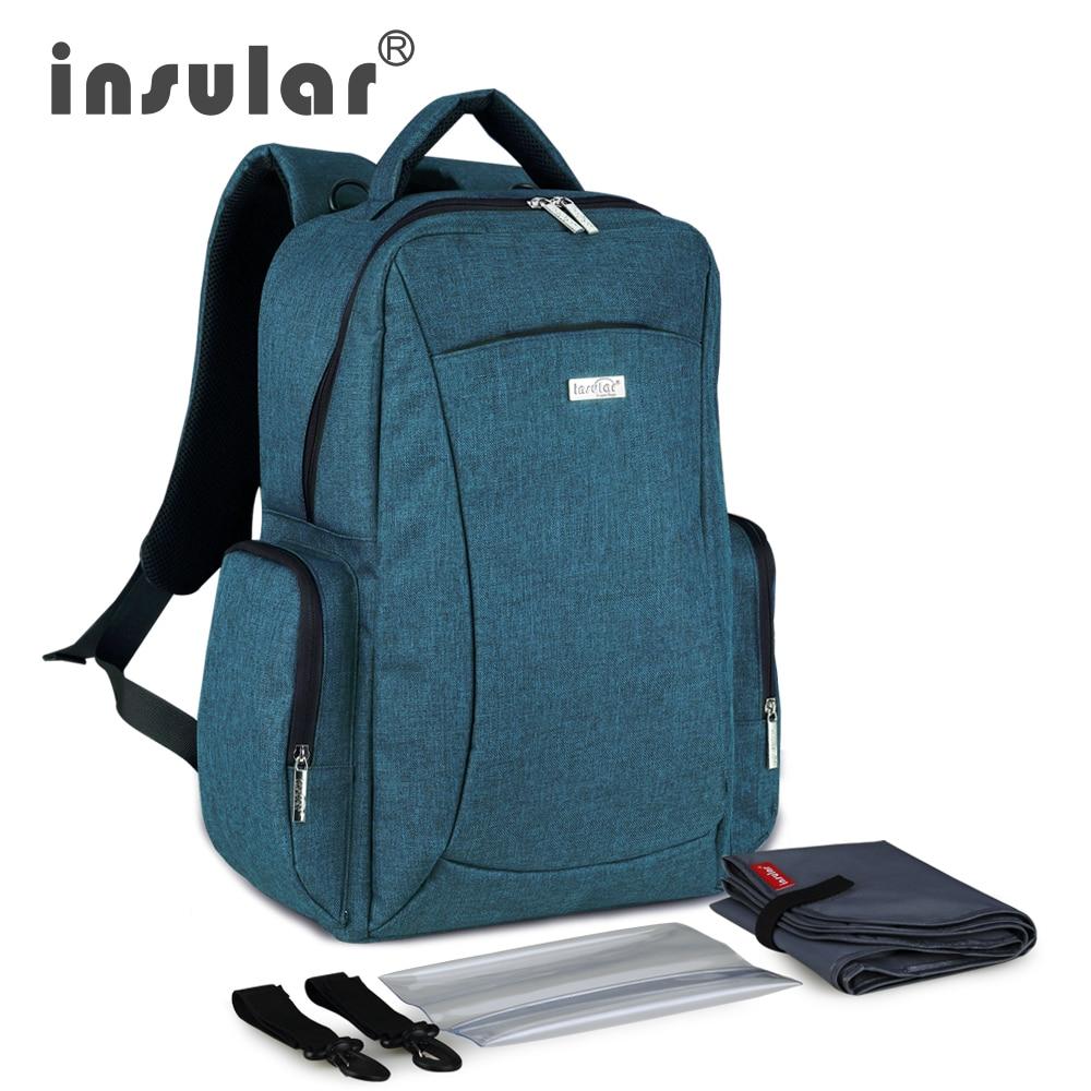 Insular Bag Varied Travel Backpack Desiger Nursing Bag For Baby Care Multifunctional Mummy Nappy Backpack Diaper Stroller Bags
