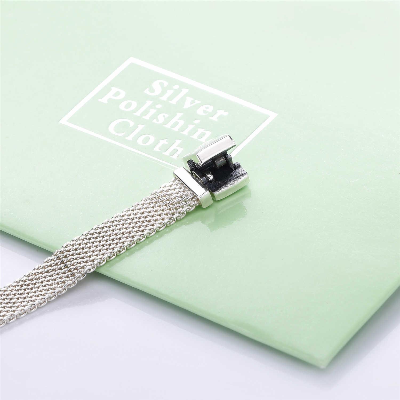 Slovecabin 100% 925 Sterling Silber Einzigartige 2018 Winter Woven Mesh Charms Armband Design Für Frauen Punk & Rock Schmuck Machen