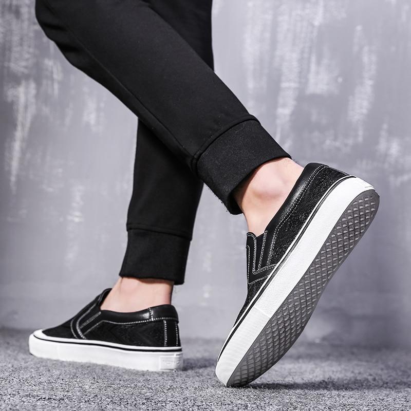 Alta Sapatos Preto Heinrich Moda A Sobre Apartamentos De Listagem Casuais Da Respirável Os Qualidade Deslizar Nova Dos Homens Lona Sapatas wTpxqp0FH