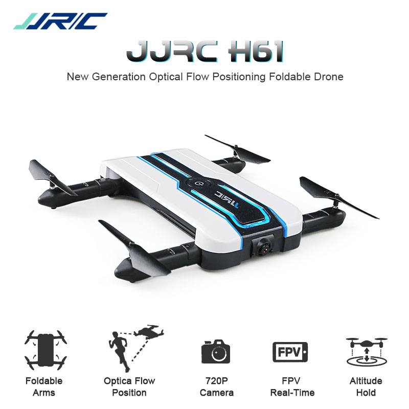 Newest JJRC H61 Spotlight WIFI FPV With 720P Camera Mini Selfie Drone Optical Flow Positioning 6-Axis RC Foldable Quadcopter original jjrc h61 02 lower body shell h61 rc drone parts