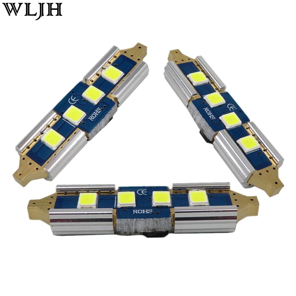 WLJH 2x Canbus Car LED-lampor 31mm 36mm 39mm 41mm 2835SMD DE3175 C5W - Bilbelysning - Foto 1