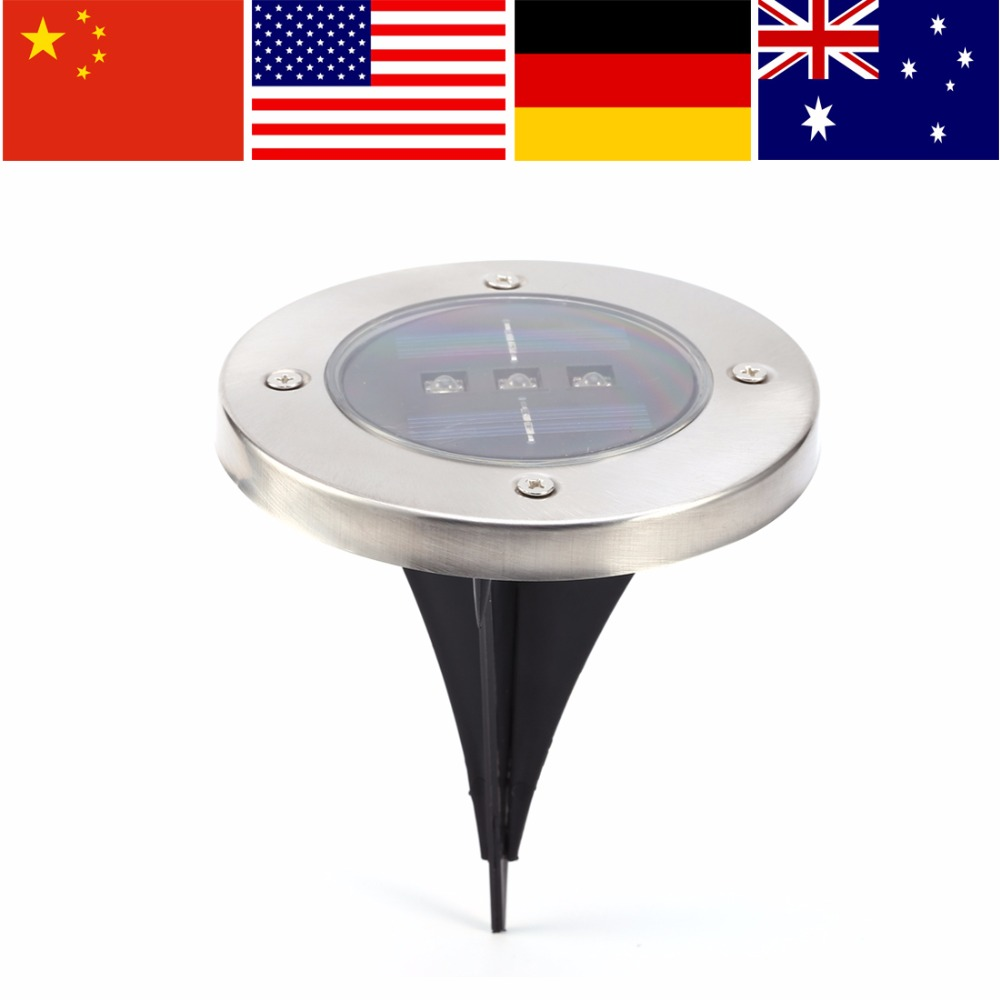IP65 LED Solar Light Garden Solar Lamp Light Outdoor Pathway Lawn Garden Floor Lamp luz solar led para exteri