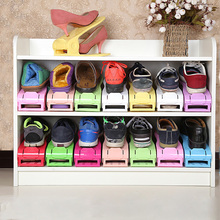 Stand-Shelf Organizer Shoe-Rack Closet Home-Accessories Adjustable Plastic 1pcs