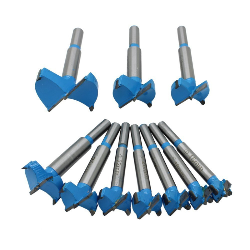 10pcs 15-50mm Carbide Woodworking Hole Saw Professional Forstner Woodworking Hole Saw Cutter Drill Bits Boring Hole OpenerTP-043 woodtek 109049 bits drill and boring forstner 1 2 carbide tipped forstner bit