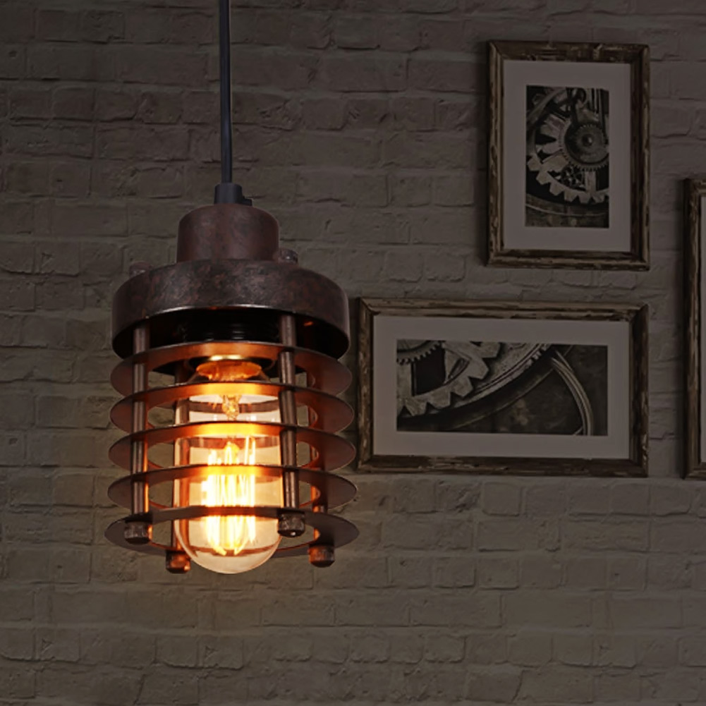 ФОТО E26/E27 Socket Loft Droplight Retro Pendant Lights Mediterranean Sea Style Lamp 110-220v Classicality Pendant Lighting