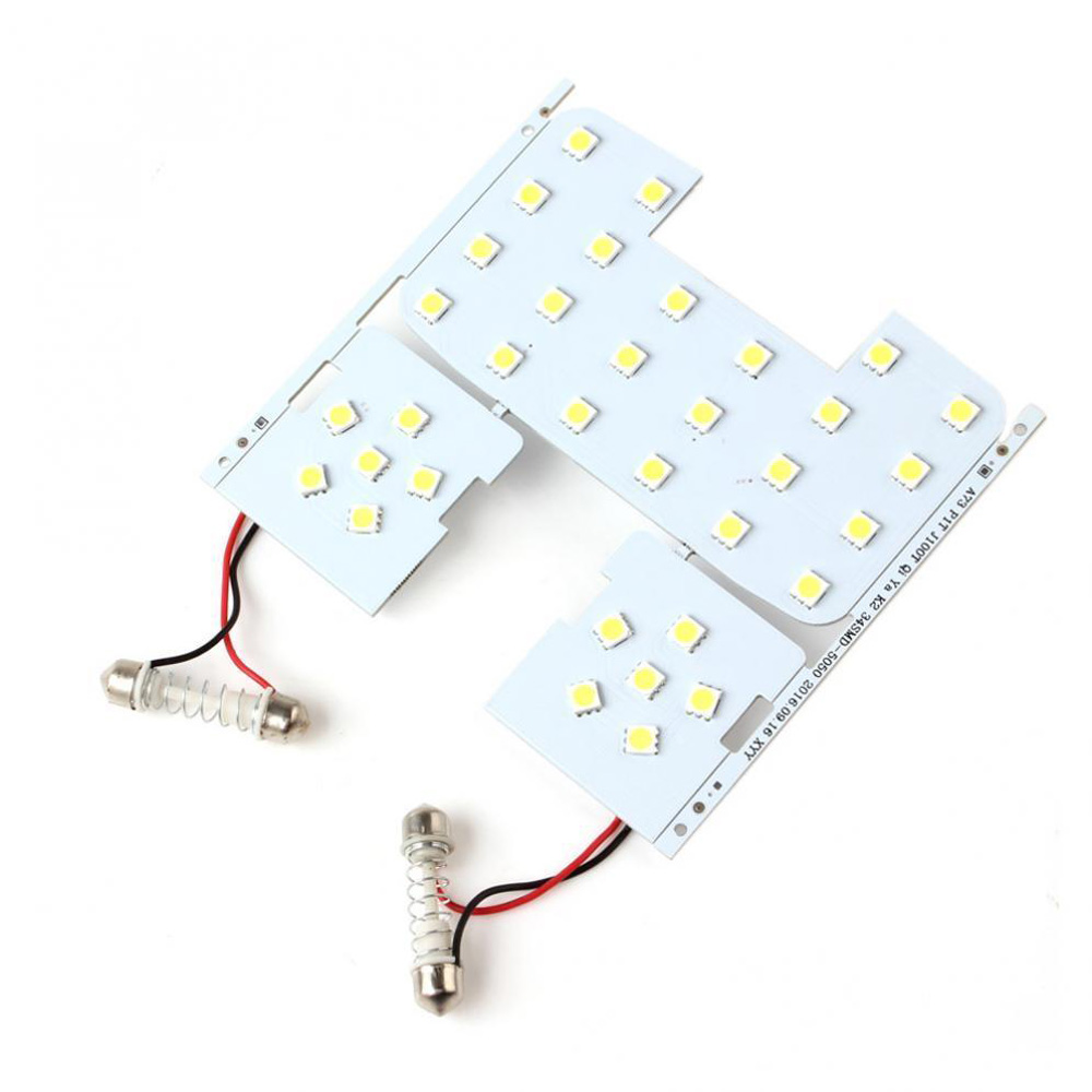 3pcs Car Reading Lights 5050smd Led Interior Dome Lamps For Kia Rio K2 06-12