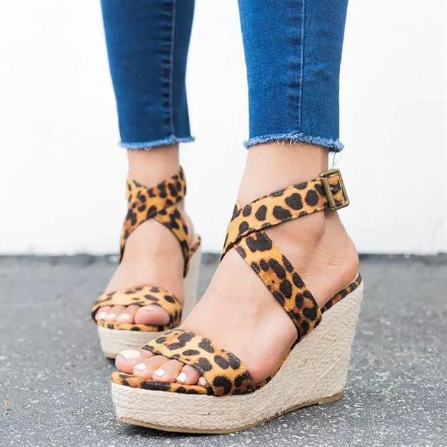 a4a6f5f32d1631 COSIDRAM Summer Women Sandals Fashion Platform Shoes New 2018 Sexy Solid Female  Women Wedge Heels Shoes Plus Size 42 43 SNC-108