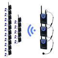 TP-WIRELESS Hygienic Translation System for Interpretation Meeting Tour with mini XLR Microphone and Drop-proof Earphone